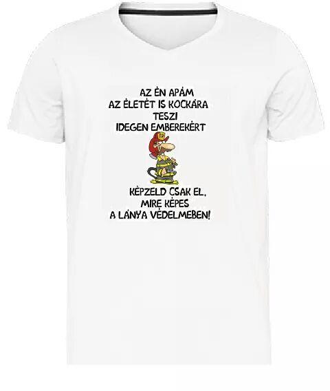 Ízelítő a pólókból, amiket terveztünk. /Tűzoltó - lányos apa/ Ősztől rendelni is lehet őket! MosolyGyár Győr