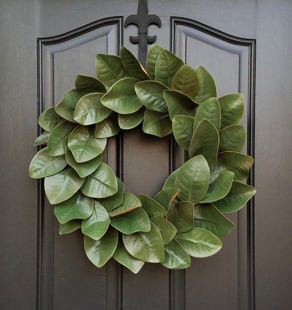 Jednoduchý kutilství magnolie věnec pro každodenní zdobení, řemesla, květiny, zahradnictví, věnce