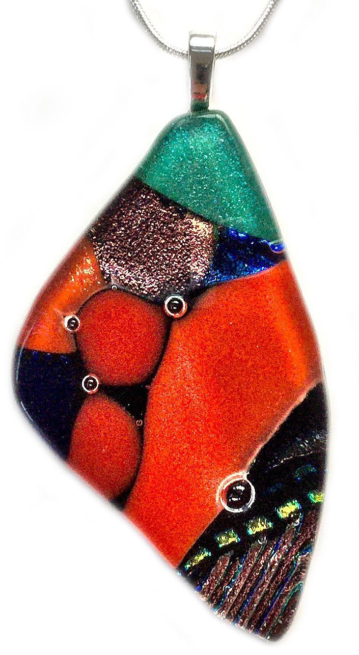 Sienna Sunrise www.shardsglass.com You Can Fly Butterfly Pendant Shards Glass Studio https://www.facebook.com/ShardsGlassStudio?fref=ts