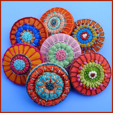 I love buttons and these beautiful embroidered ones might should been pinned on my Art page instead of style.