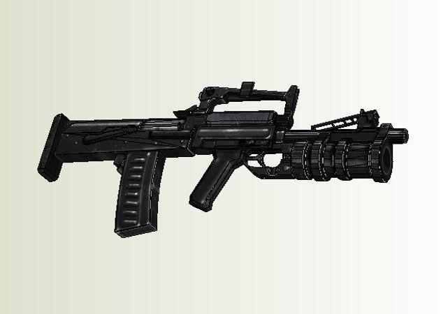 Mô hình giấy OTs-14 Groza Assault Rifle thiết kế bởi Vov4ik Zver | Papercraft OTs-14 Groza Assault Rifle create by Vov4ik Zver.