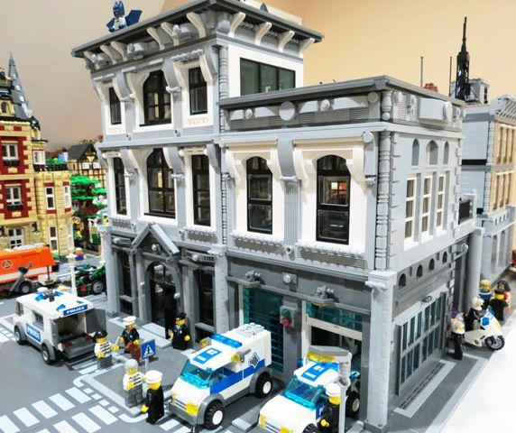"""I might remove the """"police station"""" function and simply turn this one into a nice shop and apartment building."""