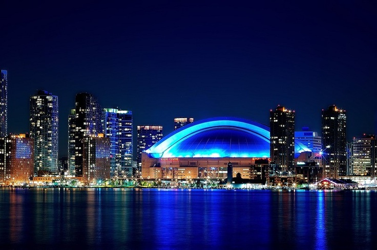 Toronto Rogers Centre - Formerly the Skydome the world's first retractable roof stadium. raptors very 416