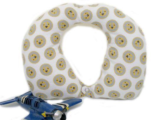 Organic Kids Travel Pillow - lion faces - kids travel pillow - eco friendly materials