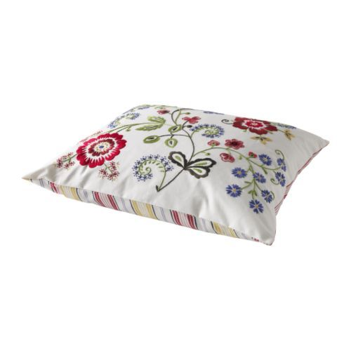 ALVINE FLORA Cushion IKEA Embroidered with yarn in different colours;
