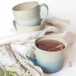 "Handmade Speckled Ceramic Mug | Introducing #Hygge – our favourite new excuse to snuggle under a chunky knit with a cup of cocoa. Pronounced ""hooga"", this Danish trend is all about embracing cosiness and enjoying the good things in life surrounded by your favourite people. That definitely sounds like something we can get on board with."