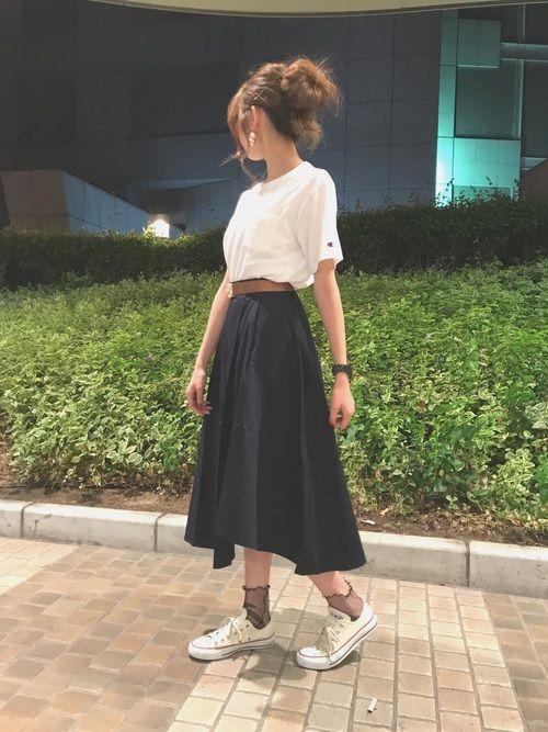 c1f080cb868448 mika|E hyphen world galleryのスカートを使ったコーディネート ...
