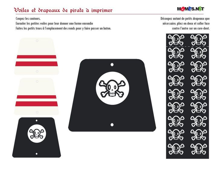 Décoration de gateau pirate à imprimer free printable pirate for cake decoration