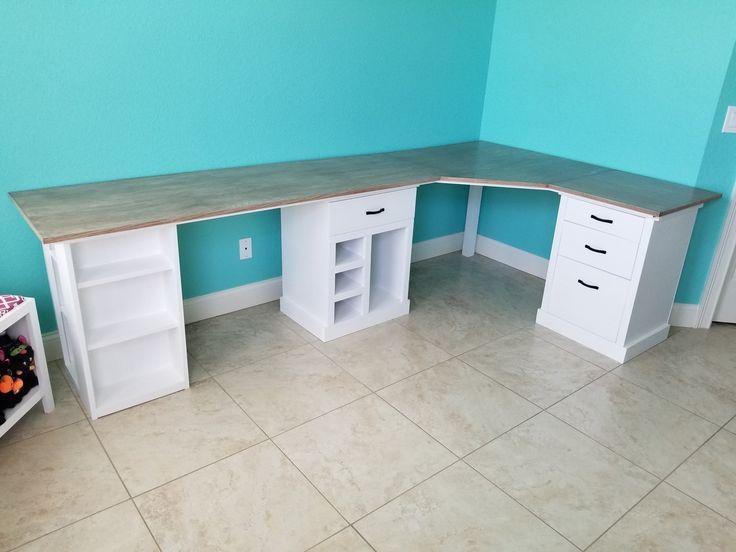 Modular Corner Office And Craft Desk, Corner Craft Desk