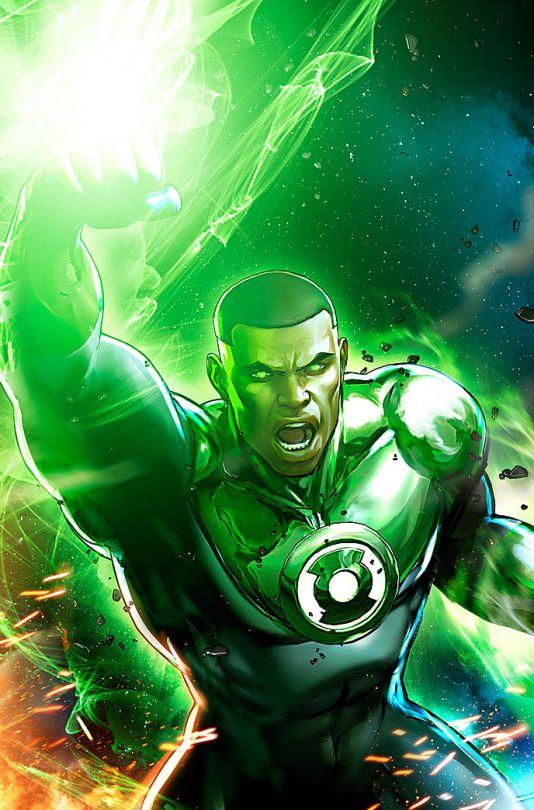 A luz do lanterna verde
