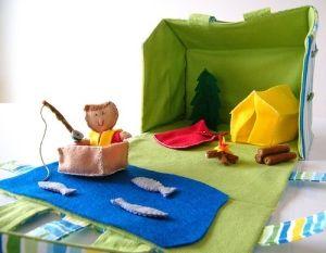 Not crochet but a fun idea  Felt camping playset.  Too cute! by regina