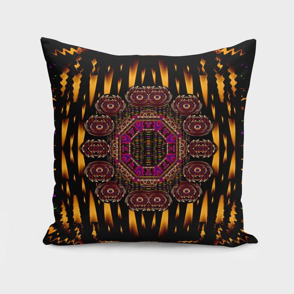 Discover «a flaming star is born on the  metal sky», Numbered Edition Throw Pillow by Pepita Selles - From $27 - Curioos