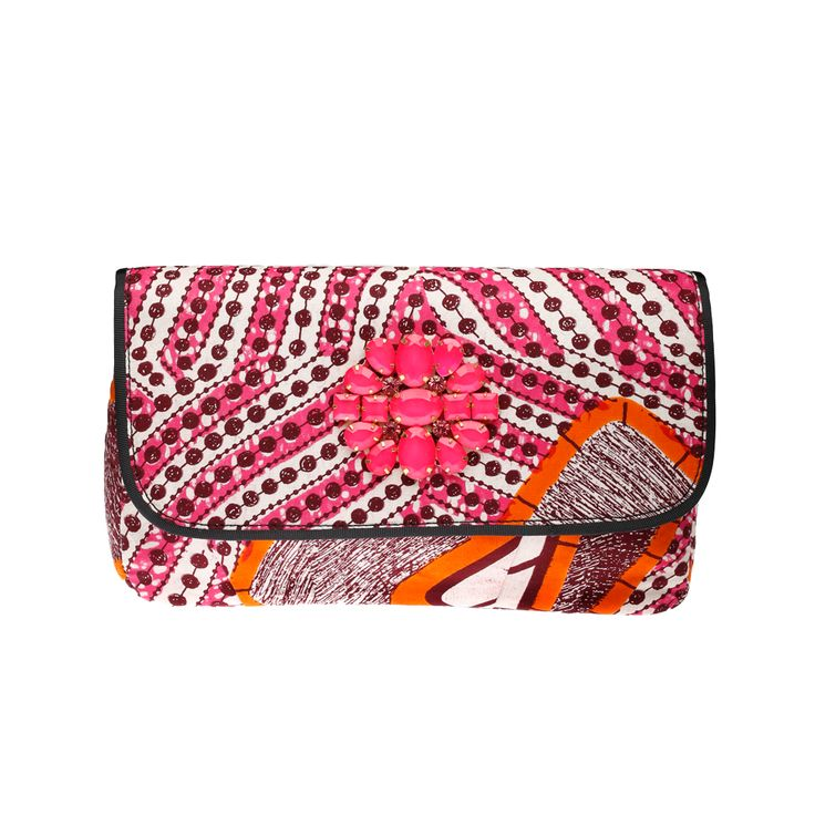 DOREEN MASHIKA – Bahati Pink sac en wax porté épaule