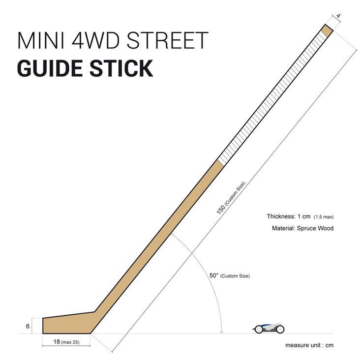 Guide Stick for Mini 4WD Street Mini 4wd | Mini 4WD | #Mini4WD | #Tamiya | #ミニ四駆