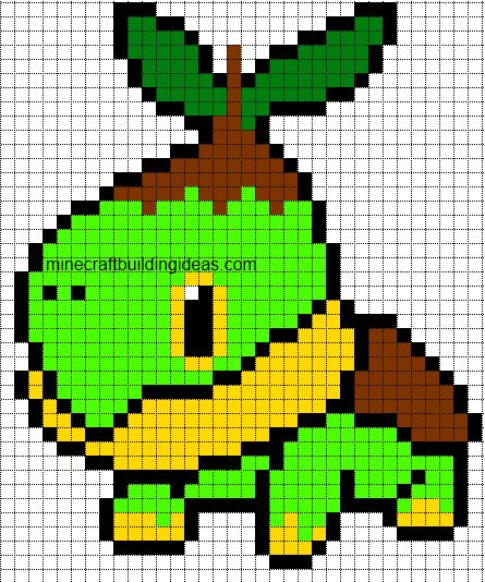 Turtwig minecraft template pixelmon pinterest for How to make minecraft pixel art templates