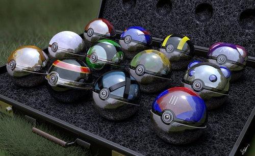 All the Poke'balls.