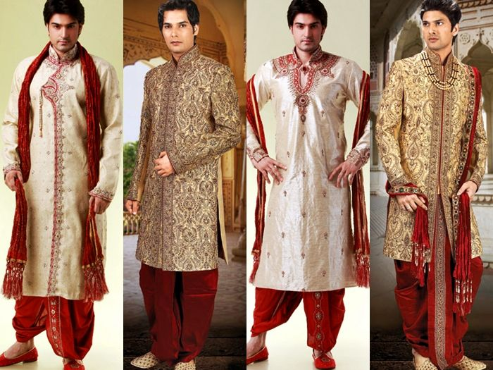 Marriage dresses for Indian men in India. Their outfits quite simple ...