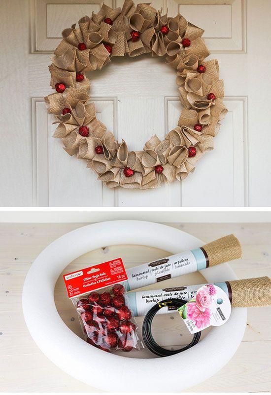 DIY Holiday Burlap Wreath - Diy Christmas Wreaths For Front Door