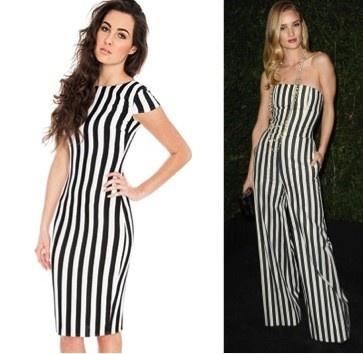 Rosie Huntington stripes