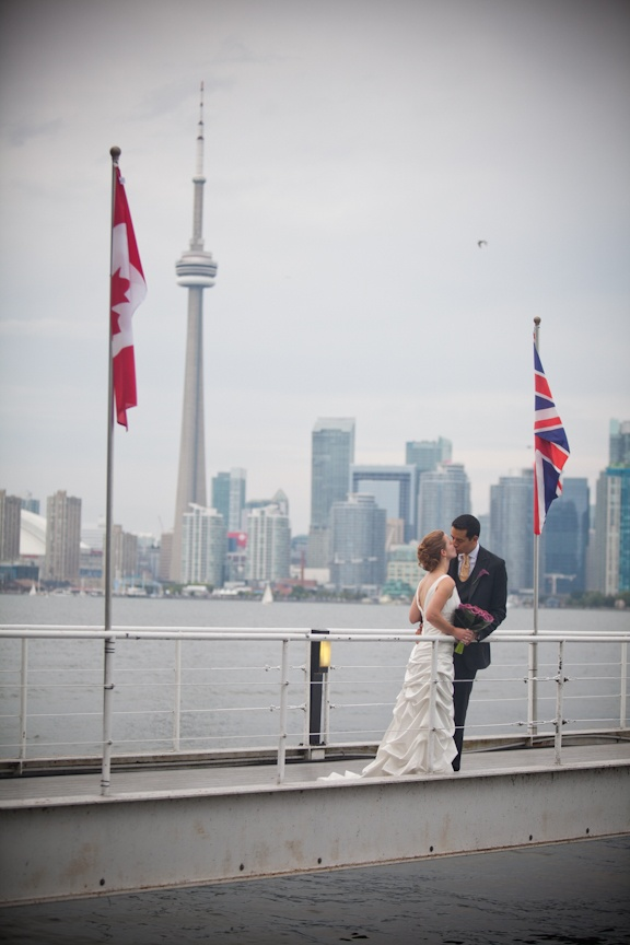 Our wedding at the RCYC in Toronto: On the pier
