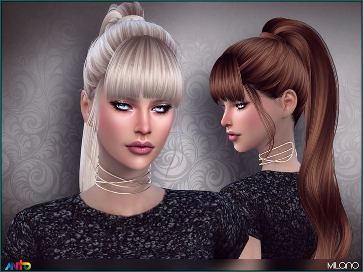 Long tail with fringe  Found in TSR Category 'Sims 4 Female Hairstyles'
