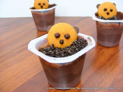 Amy's Cooking Adventures: Ground Hog Pudding Cups