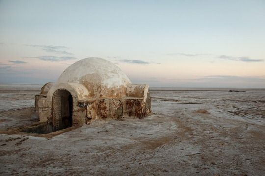 Home on a sandy planet. #StarWars