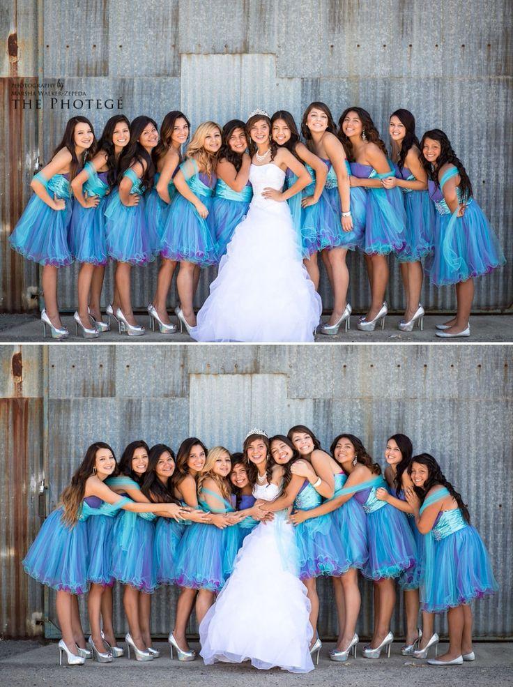 Quinceañera photo poses with damas \\ Photo Credit: The Photegé #Quinceaneraphotoidea #damas