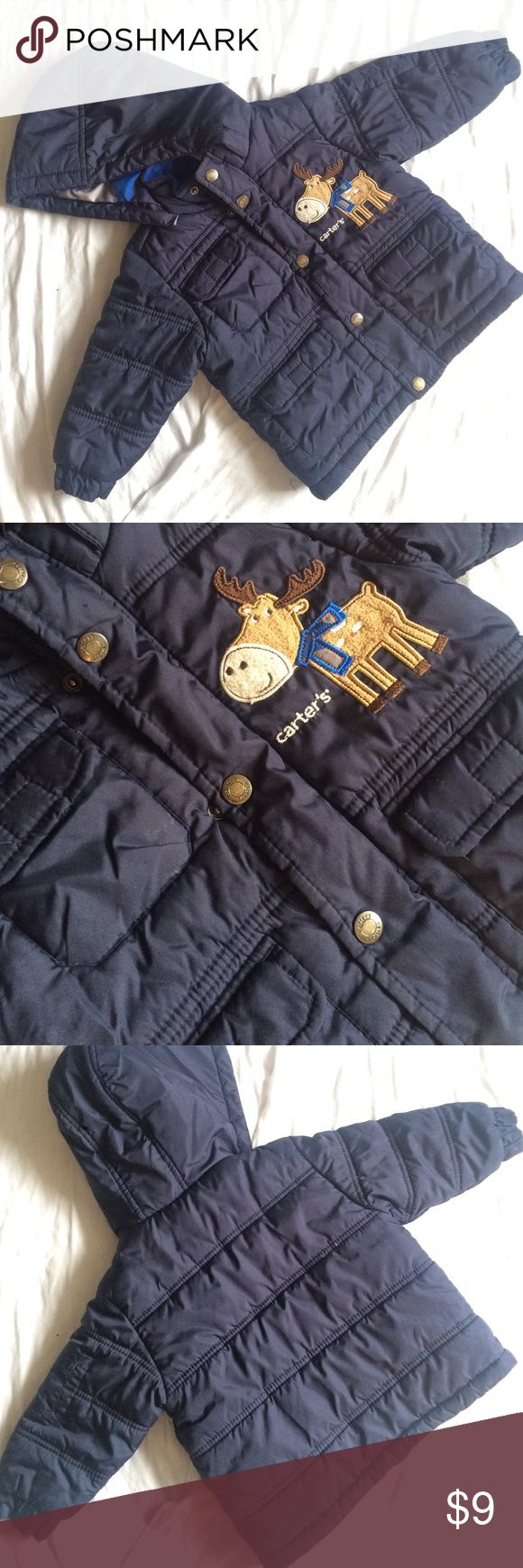 Carter's 18 Months boys winter coat Carter's 18 Months boys winter coat. See last photo tear ( can be sewn )! THANKS FOR LOOKING! I do bundle 💝 Carter's Jackets & Coats Puffers