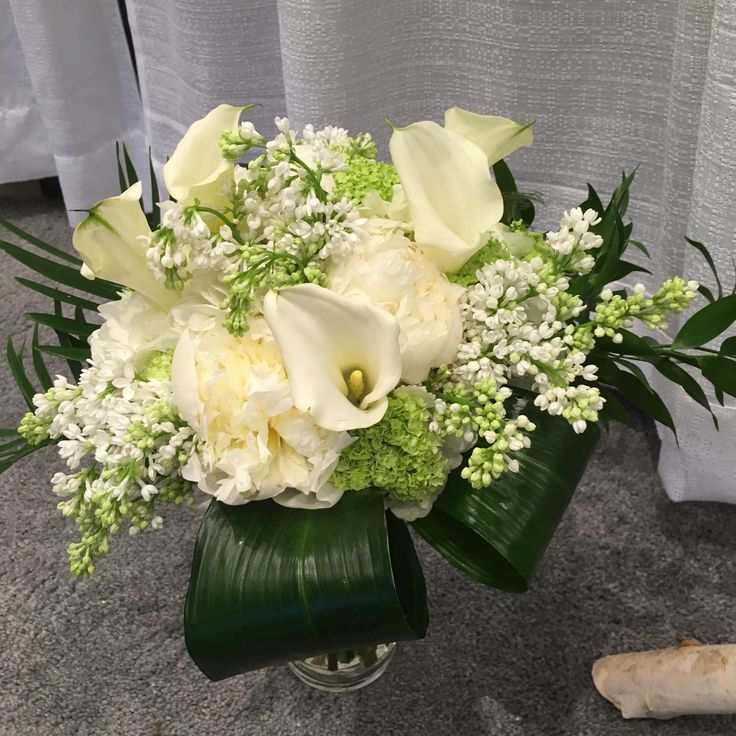 Peonies, Calla, Lilac Bouquet