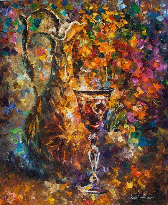 Jar Wall Art Wine Oil Painting On Canvas By Leonid Afremov