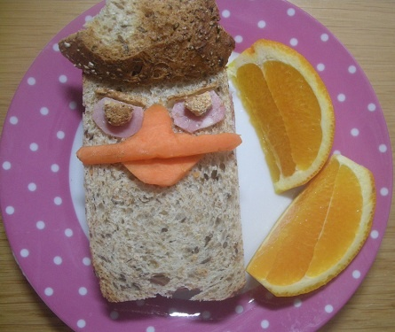I also made Perry the platypus sandwich from Phineas and Ferb.: Fun Kids, Las Reina, Kids Fun, Kids Food