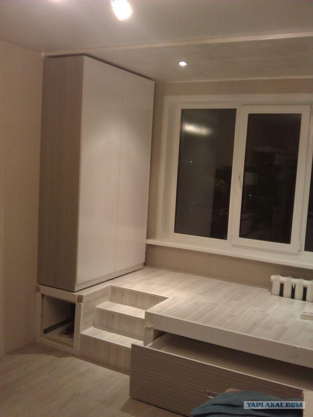 двуспальная выдвижная кровать подиум в однокомнатной квартире: 15 тыс изображений найдено в Яндекс.Картинках