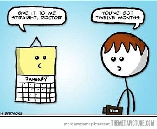 You've got 12 months to live. #Doctor humor!