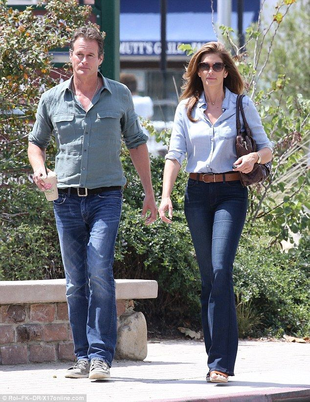 Couple's outing: Cindy Crawford and husband Rande Gerber stepped out for a lunch date in M...