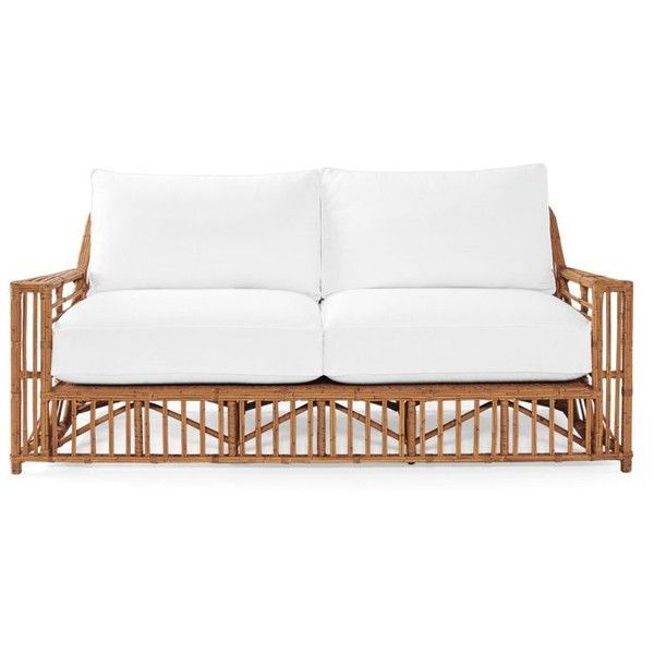 Serena & Lily Bungalow Sofa In White Basketweave found on Polyvore featuring home, furniture, sofas, white furniture, white sofa and white couch