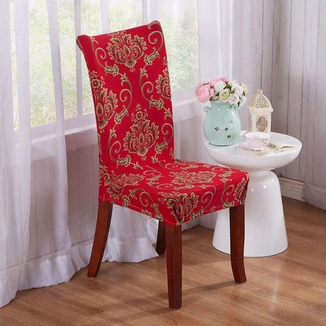 Superb Decoruhome Merry Christmas Chair Covers Floral Spandex Short Links Chair Design For Home Short Linksinfo