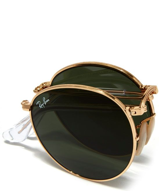 Ray-Ban Gold Vintage Round Sunglasses | Menswear | Liberty.co.uk