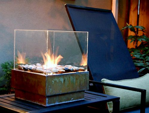 Love this portable firepit - very modern