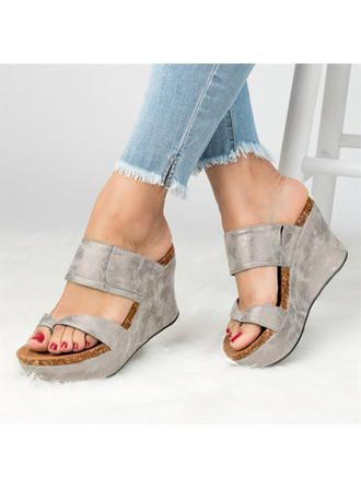 b165971ea VERYVOGA Women's PU Wedge Heel Sandals With Others shoes in 2019 ...
