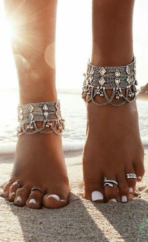 20 schicke Strand-Fußkettchen für modebewusste Mädchen