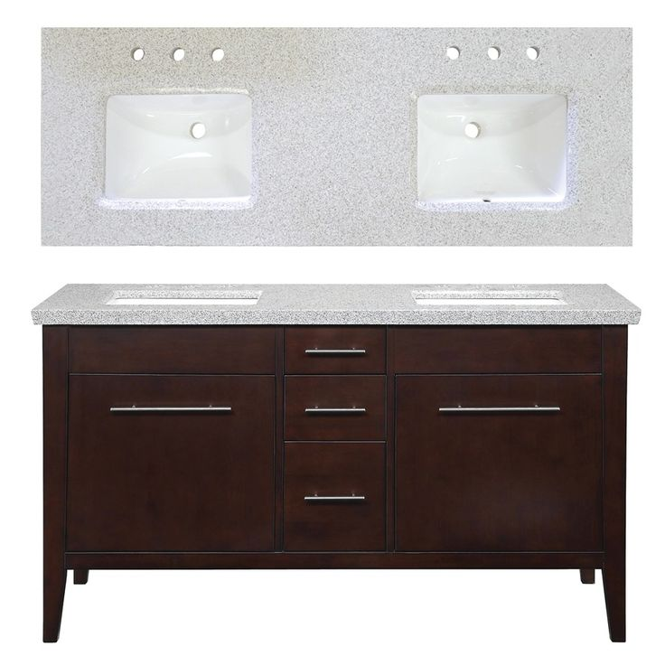 Shop Allen Roth 60 Brown Tan Newfield Bath Vanity With Top At Dream Home