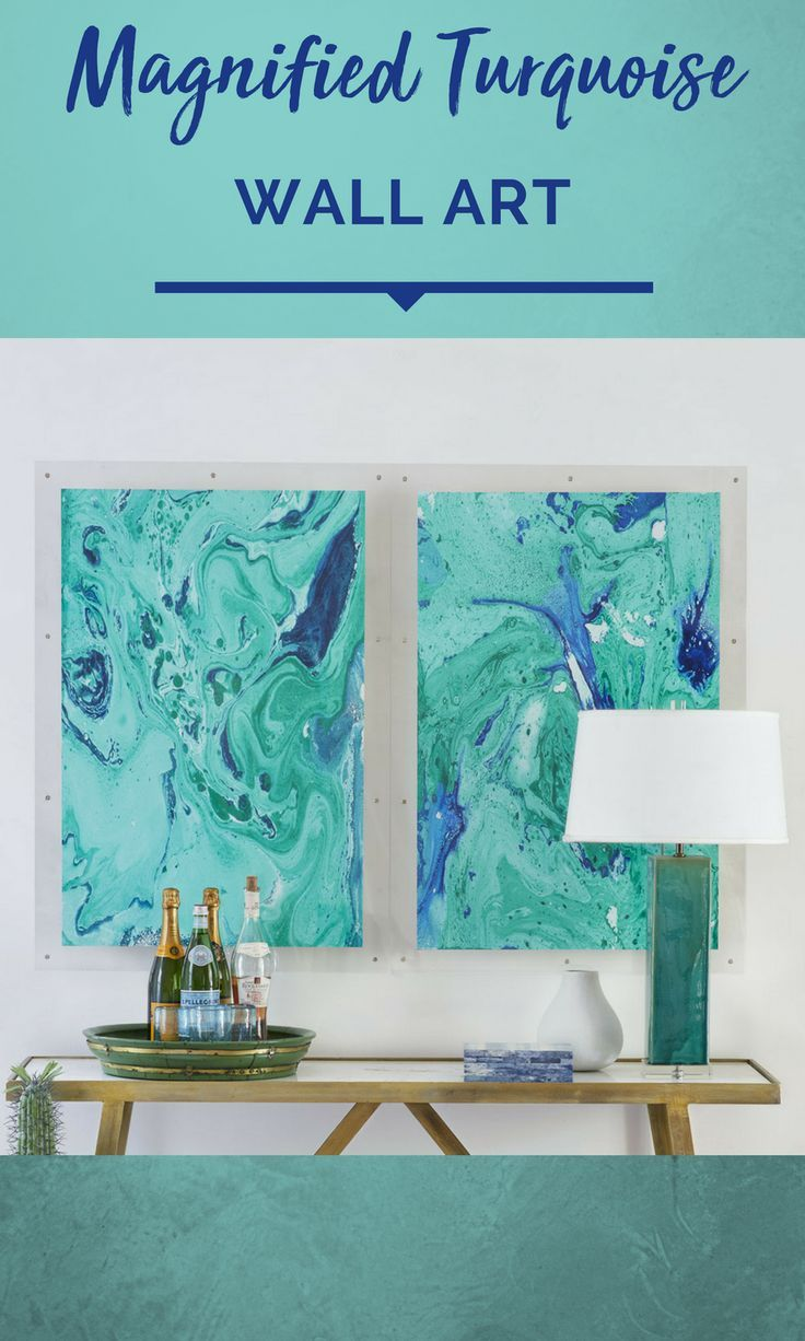 Turquoise Gemstone Wall Art Closeup Photo Of Turquoise Teal