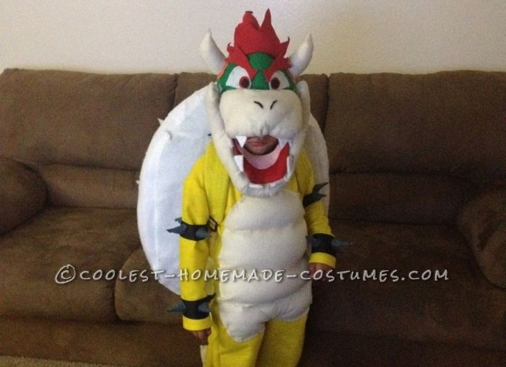 Cool DIY Bowser (King Koopa) Halloween Costume for a Boy ...This website is the Pinterest of Halloween costumes for kids