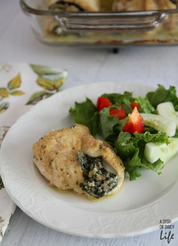Goat cheese stuffed chicken breast with spinach and proscuitto...an ...