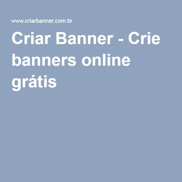 Criar Banner - Crie banners online grátis