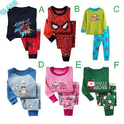 2016 New Boys Girls Kids Sleepwear Nightwear 2pcs Long Sleeve Tops+Pants Pyjamas Set 2-8Y kigurumi batman coverall pajamas //Price: $US $5.50 & FREE Shipping //     #fashion