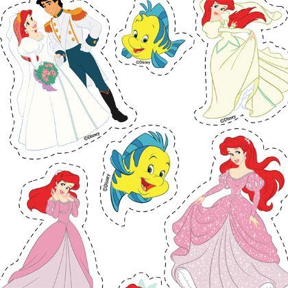 D coupage ariel mes cr ations la petite - Petite princesse disney ...