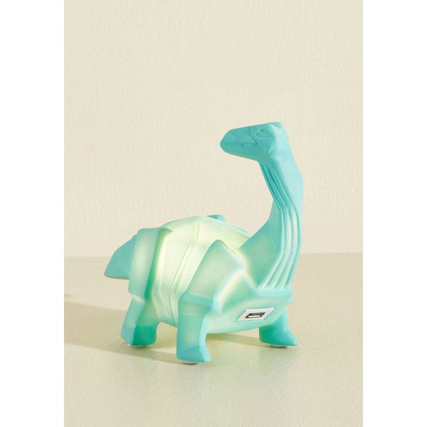 Disaster Designs Dino for a Fact Night Light ($4.97) ❤ liked on Polyvore featuring home, lighting, varies, mini light, mini lamp, teal lights, colored lights and dinosaur light