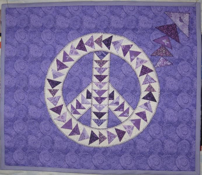 Flying Geese Peace Sign: Quilt Patterns, Free Patterns, Peace Signs Quilts Patterns